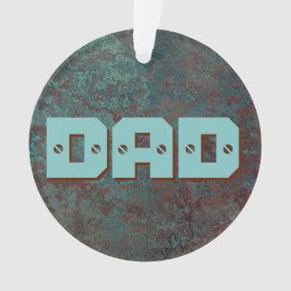 """Corrosion """"Copper"""" print DAD acrylic round Ornament"""