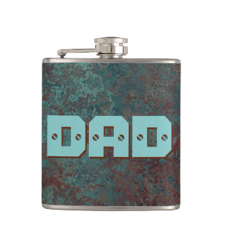 "Corrosion ""Copper"" print DAD flask wrapped"