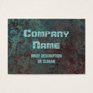 "Corrosion ""copper"" print 'description' chubby business card"