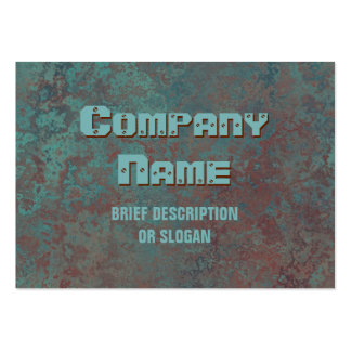 "Corrosion ""copper"" print 'description' chubby pack of chubby business cards"