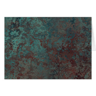 """Corrosion """"Copper"""" print greetings card"""
