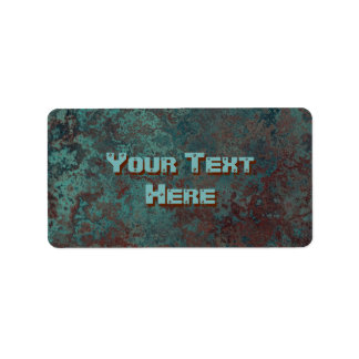"""Corrosion """"Copper"""" print labels medium"""