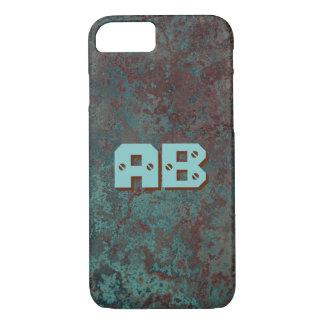 """Corrosion """"Copper"""" print Monogram iPhone 7 iPhone 7 Case"""
