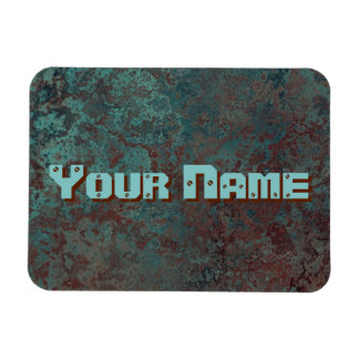 "Corrosion ""Copper"" print Name flexible Magnet"