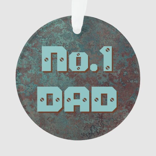 "Corrosion ""Copper"" print No.1 DAD acrylic round"