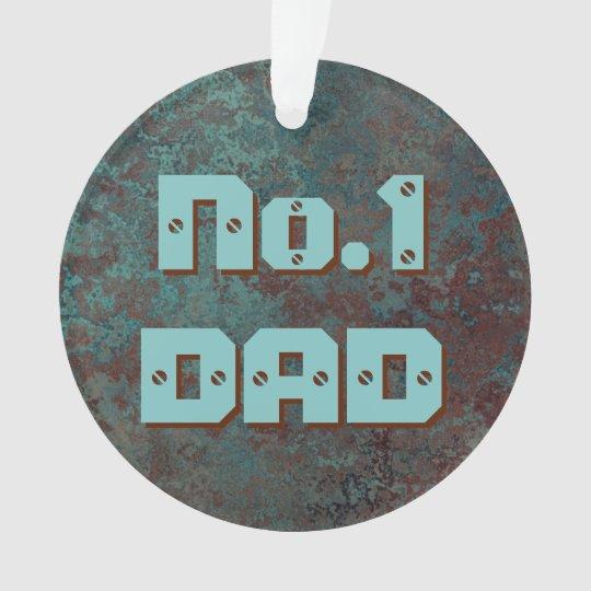 """Corrosion """"Copper"""" print No.1 DAD acrylic round Ornament"""