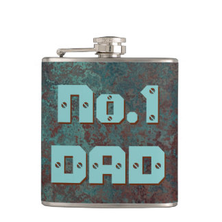 "Corrosion ""Copper"" print No.1 DAD flask wrapped"