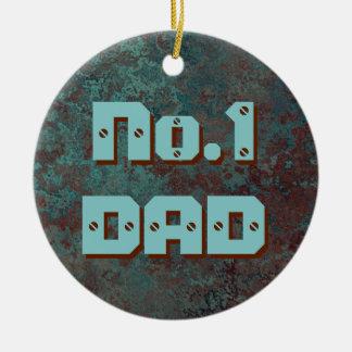 """Corrosion """"Copper"""" print No.1 DAD ornament round"""