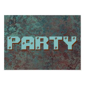 """Corrosion """"Copper"""" print """"Party""""invitation Card"""