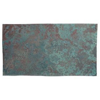 "Corrosion ""Copper"" print pillowcases king pair"