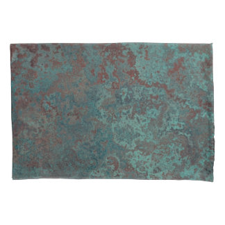 "Corrosion ""Copper"" print pillowcases standard pair"