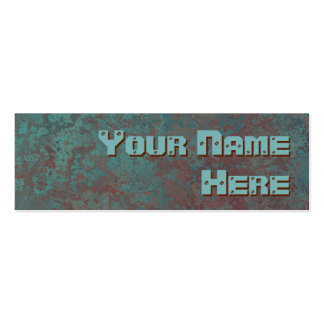 "Corrosion ""copper"" print side text skinny pack of skinny business cards"
