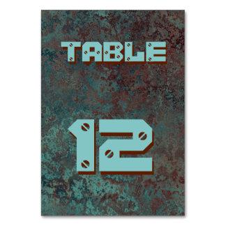"""Corrosion """"Copper"""" print table card"""