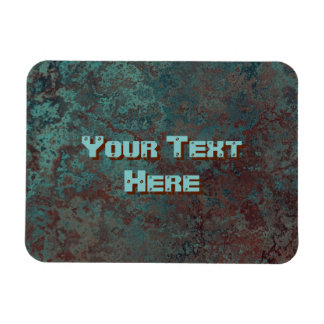 "Corrosion ""Copper"" print Text flexible Magnet"