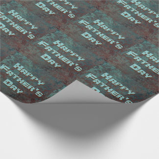 """Corrosion """" Copper"""" print tiled Happy Father's Day Wrapping Paper"""
