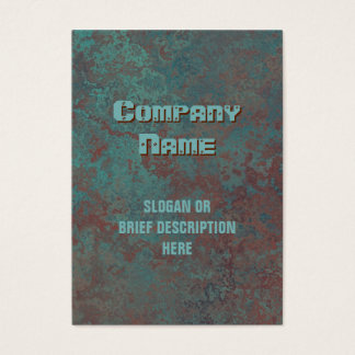 """Corrosion """"copper"""" print vertical chubby"""