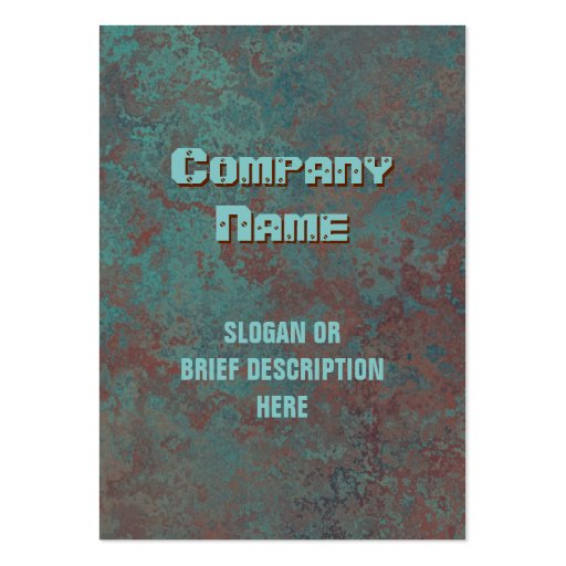 """Corrosion """"copper"""" print vertical chubby business card templates"""
