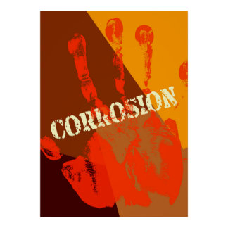 Corrosion funny abstract poster