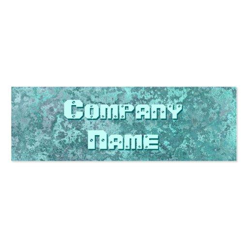 Corrosion green print business card skinny