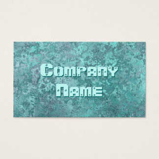 Corrosion green print business card template