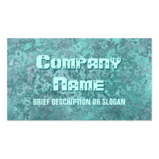 Corrosion green print 'description' pack of standard business cards