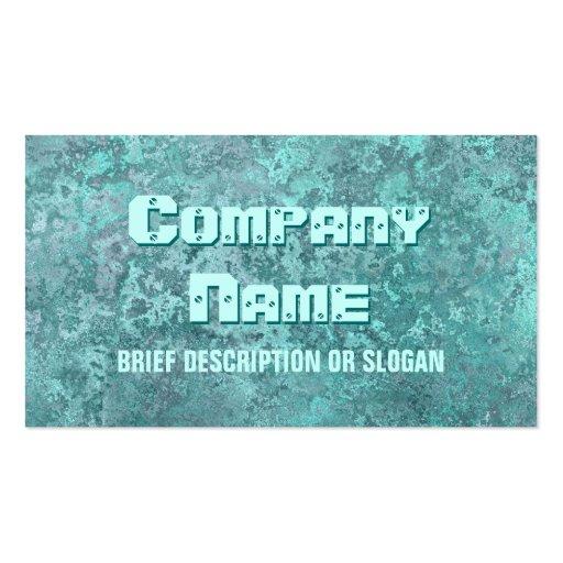 Corrosion green print 'description' business cards