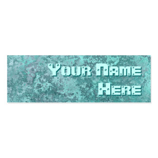 Corrosion green print side text skinny business card template