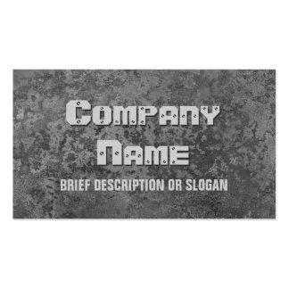 Corrosion grey print description business card