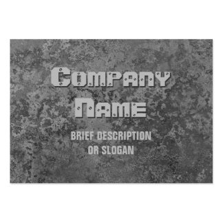 Corrosion grey print 'description' chubby pack of chubby business cards