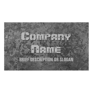 Corrosion grey print 'description' pack of standard business cards