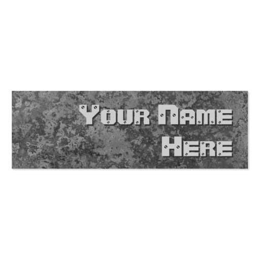 Corrosion grey print side text skinny business card templates