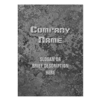 Corrosion grey print vertical chubby pack of chubby business cards