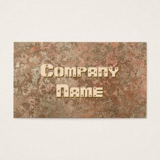 Corrosion orange print business card template