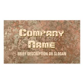 Corrosion orange print 'description' pack of standard business cards