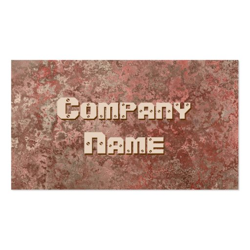 Corrosion red print business card template