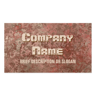 Corrosion red print 'description' pack of standard business cards