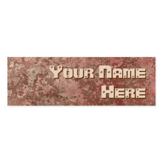 Corrosion red print side text skinny pack of skinny business cards