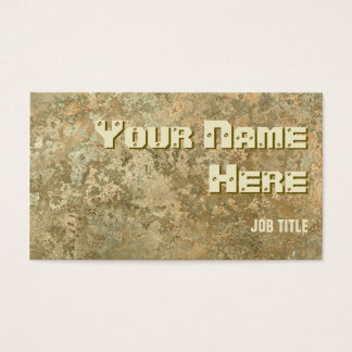 Corrosion yellow print business card side text
