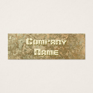 Corrosion yellow print business card skinny