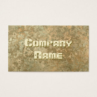 Corrosion yellow print business card template