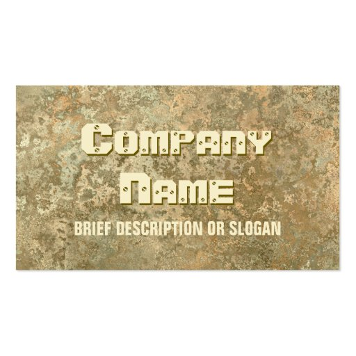 Corrosion yellow print 'description' business card