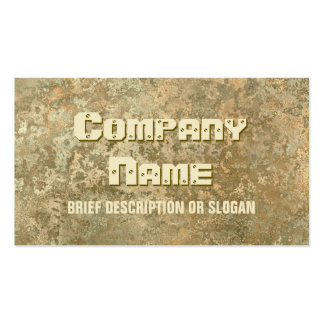 Corrosion yellow print 'description' pack of standard business cards