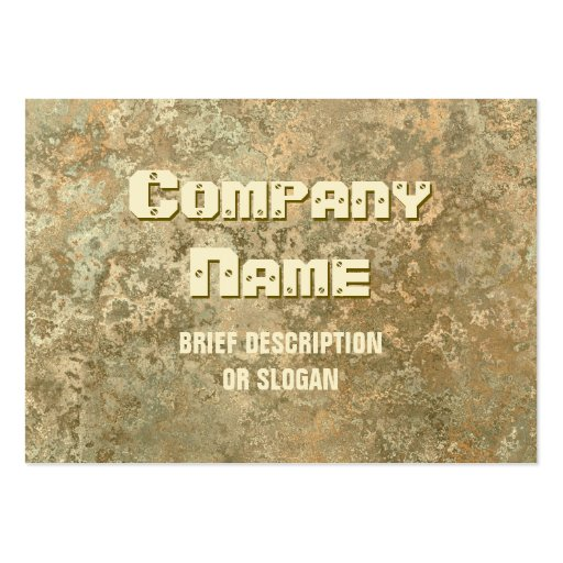 Corrosion yellow print 'description' chubby business card templates