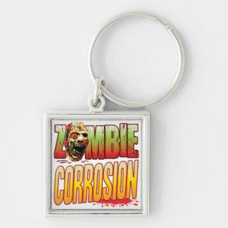 Corrosion Zombie Head Key Chain