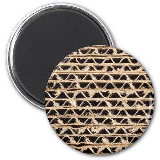 Corrugated cardboard texture fridge magnet