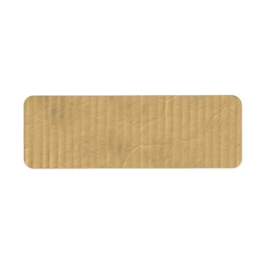 Corrugated Cardboard Texture Return Address Label