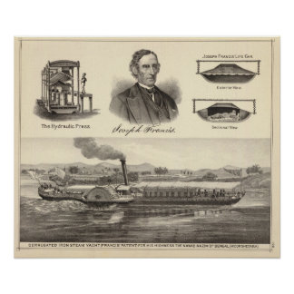 Corrugated iron steam yacht poster