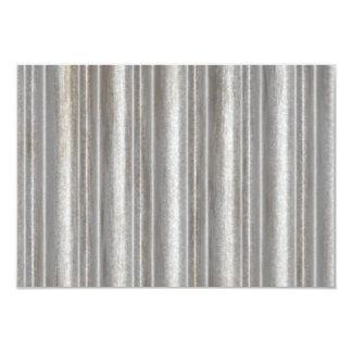 corrugated metal 9 cm x 13 cm invitation card