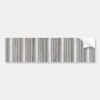 corrugated metal bumper sticker