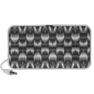 Corrugated metal texture speaker system